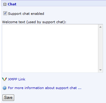 Knowledge Base Images/Project Settings/ProjectSettings_SupportChat.PNG